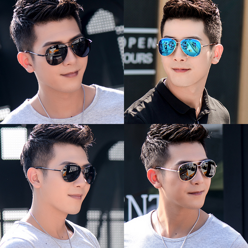 Resin lens sunglasses sunglasses sunglasses driver men men and women trendsetter polarizing sunglasses