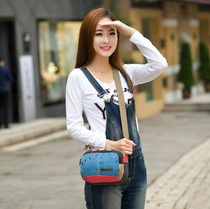 Canvas bag handbag new wave shoulder bag Messenger bag Korean fashion bag purse mini ladies  small party bags