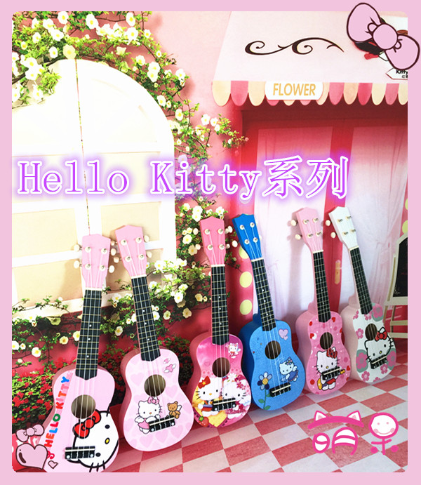 21 inches of hello Kitty cartoon especially in kerry ukulele Hawaii four small guitar string toys for children