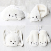 Soft of baby seals backpack suit P0043 scarf hat gloves
