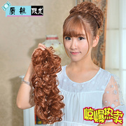 Amazing quality aerial wig Mrs. caterpillar winding hair fluffy head ring hair bag spring bud balls