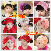 Korean shipping wig with baby red hair band infant flowers Liu Haifa wig accessories hundred Amaterasu