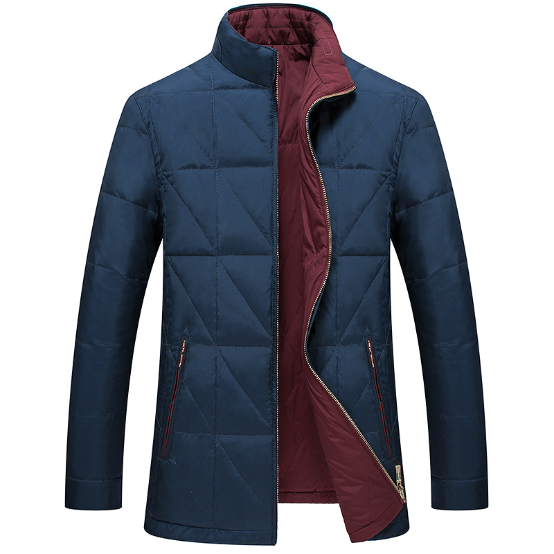 Wit for men's wear eiderdown outerwear authentic 2015 winter fashion leisure double-sided wear coats male thin coat