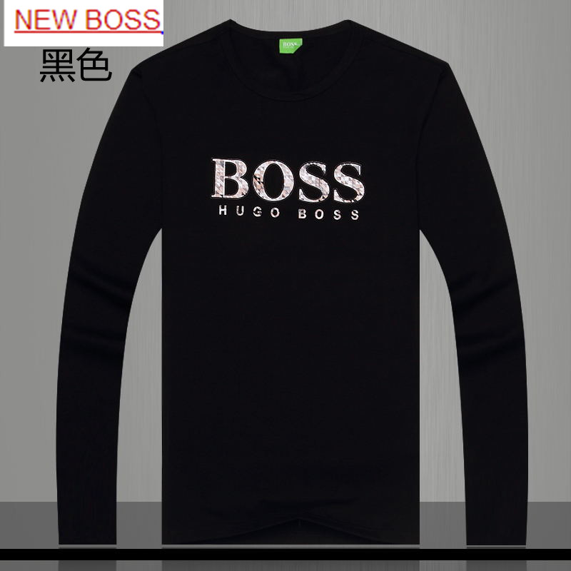Genuine BOSS menswear brand Mens Long Sleeve T-Shirt Crewneck winter classic casual shirt male autumn clothes