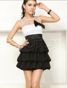Japan and South Korea sister hanging neck dress evening dress female short new bride wedding dinner B698