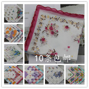 Cotton lace handkerchief crescent lady children small handkerchief retro authentic cotton bag mail explosion of childhood memories