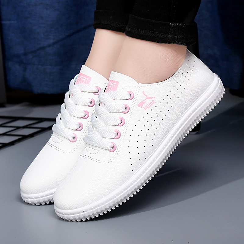 The summer white shoe shoes all-match thick bottom air max shoes summer students white shoes flat casual shoes