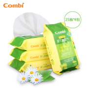 Tmall supermarket Combi hand baby baby wipes wet wipes 25 *4 packs