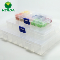 Vader transparent grid small storage boxes plastic jewelry beaded jewelry box storage box Plaid accessories box