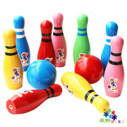 Special offer children's Wooden bowling fitness ball ball baby infant toys wooden feeling training