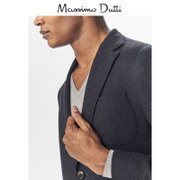 Spring & Summer discount Massimo Dutti Mens texture wool suit jacket 02014260401