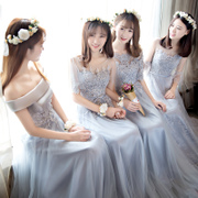 2017 new winter bridesmaid dresses long slim Korean Bridesmaid Dress bridesmaids sister dress party dress