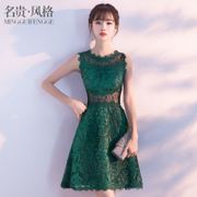 The banquet evening dress 2017 new summer fashion Korean Short Student Party Dress dress female