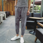 Men's casual pants pants pants Haren Korean male feet nine pants loose pants pants legs feet trend