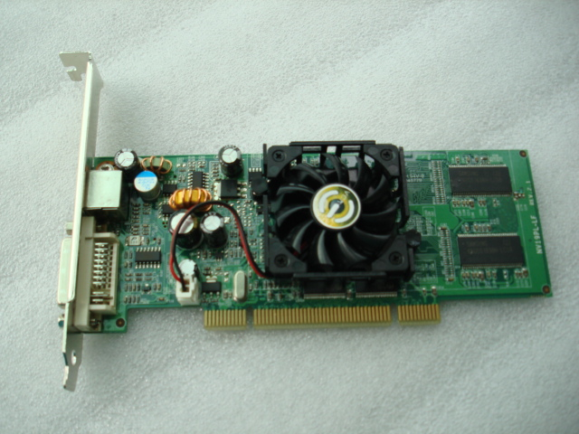 EVGA old PCI card 128 MB of new inventory show the king of the PCI socket FX5200 specials