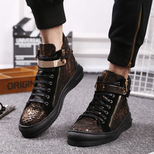 High shoes GZ shoes men winter new trend of Korean street tide brand golden shoes British all-match shoes
