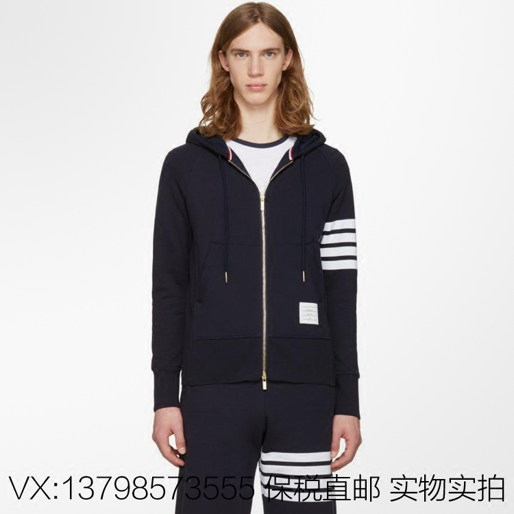 Purchasing genuine TB striped knit four stripes Zip Hoody Hoodie and couples dress tide brand 2017SS