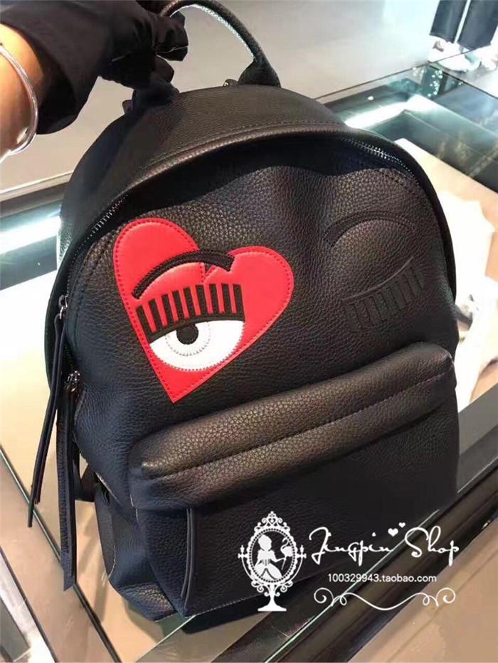 美国代购 Chiara Ferragni 双肩包 CF女包眨眼睛包链条包背包书包
