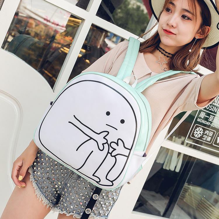 日系可爱颜文字书包女软妹洛丽塔动漫周边双肩包休闲卡通萌潮背包