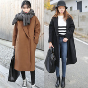 Autumn and winter 2017 new women's Korean loose wool coat long thick temperament in the long wool coat