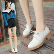 2017 spring shoes England College wind shoes all-match thick white shoes with thick shoes with girls