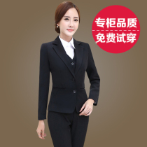 Spring 2017 new short little black suit coat women wear long sleeve two button suit jacket slim