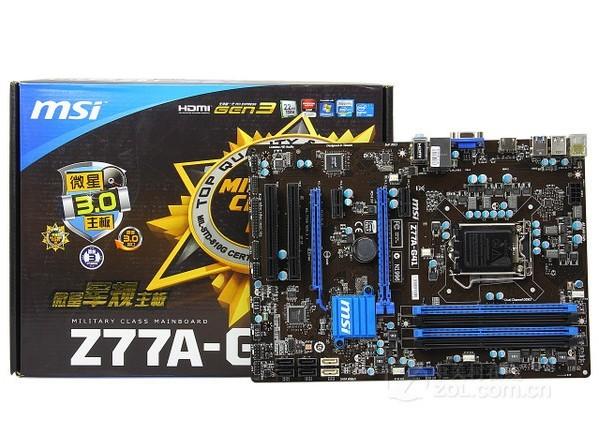 正品 MSI/微星 Z77A-G41 微星Z77主板 1155 USB3.0 超频好帮手