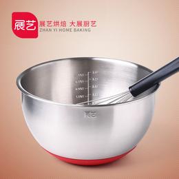 【巧厨烘焙_展艺打蛋盆】304不锈钢 加深加厚 奶油打发搅拌盆工具