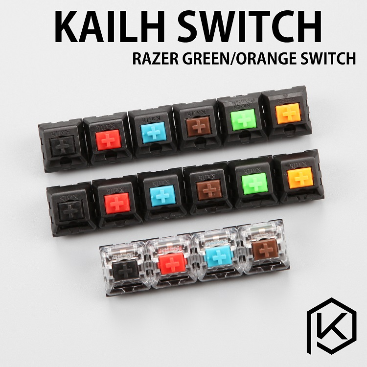 Kailh KaiHua mechanical keyboard switch black tea green axis axis red black widow RGB orange green snake shaft axis