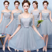 Bridesmaid Dresses short dress dress 2017 new sisters party female Korean party graduation gown