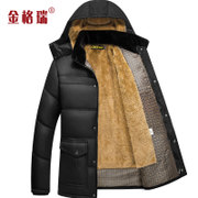Middle-aged father winter padded winter coat large size jacket in the elderly men plus velvet padded models men's clothing