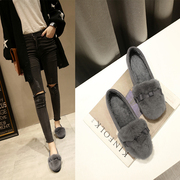 Warm winter cotton shoes scoop Rex Maomao shoes soft bottom shoes with flat Doug cashmere with flat work shoes tide