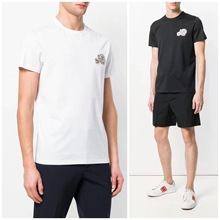 /MONCLER2018 new men's double LOGO short fashion short sleeved round neck T-shirt
