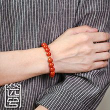 Yuan Yu Jewelry Natural Liangshan South Red String Persimmon Red Full Color Full Bracelet Men and women