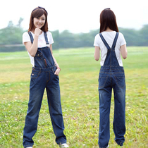 (Daily special) cowboy belt slacks female students slimming one-piece simple Joker straight pants plus size