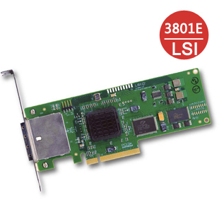 Physical store LSI SAS 3801E SAS array card PCI-E, external RAID card array card Boxed