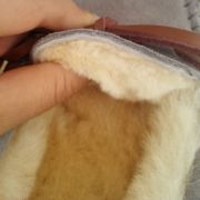 At the end of a sheep fur leather shoes with Doug winter warm cashmere slip flat shoes boots