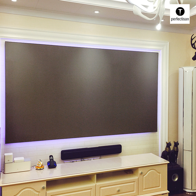 100 inch nails and 120 inch borderless narrow border Black Diamond anti light projection screen frame screen anti screen