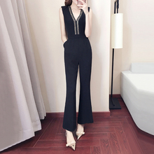 2018 Summer New Onesies Womens Jumpsuit Bodysuit Summer High Waist Thin Legs Jumpsuit Women