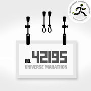 I LOVE RUNNING number marathon strap buckle clip buckle lanyard energy gel number 42195
