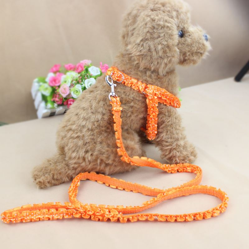 Dog chain, lace pull rope, Teddy poodle, small dog breast strap, dog walk rope, pet supplies