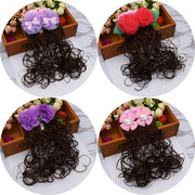 Children baby children hair wig wig Curls Hair headdress jewelry Girls Princess butterfly knot jewelry