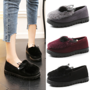 Below the coupons Street 2017 winter Maomao shoes casual shoes with velvet warm shoes Doug lazy scoop shoes