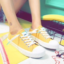 2017 new all-match breathable canvas shoes female Korean students a street beat white shoe shoes in leisure shoes