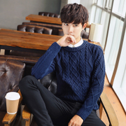 Early autumn - young men's sweater sweater slim type casual fashion trend of Korean students' personality
