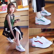 In the 2017 winter new women white shoe female Korean all-match plus velvet fall thick shoes white shoes