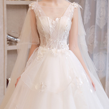 Wedding 2018 new bride princess dress dream long tail luxury forest pregnant women light wedding women