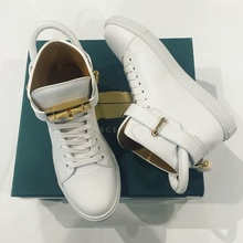 BUSCEMI Buscemi, the new spring and summer 16 white gold buckle strap shoes Bangsuo high spot