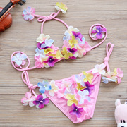 New children sweet and lovely three-dimensional flower Bikini Swimsuit girl girl Princess Baby split swimsuit