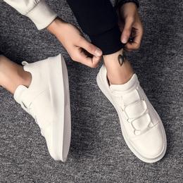 2017新款白鞋小白鞋男鞋子厚底韩版潮流百搭休闲潮鞋文艺白色板鞋